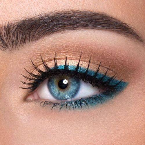 machiaj ochi albastru
