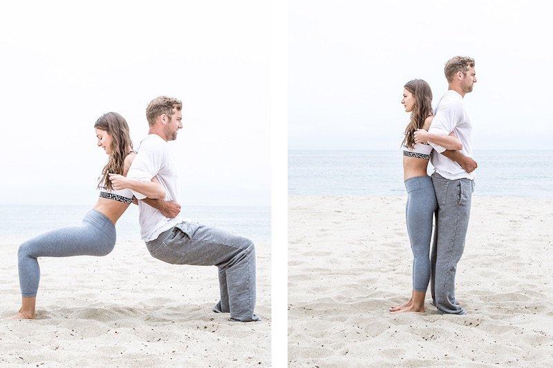Pozitii de yoga pentru cupluri